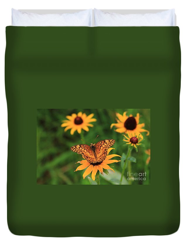 Best Black-eyed Susan Duvet Cover featuring the photograph Friends by Reid Callaway