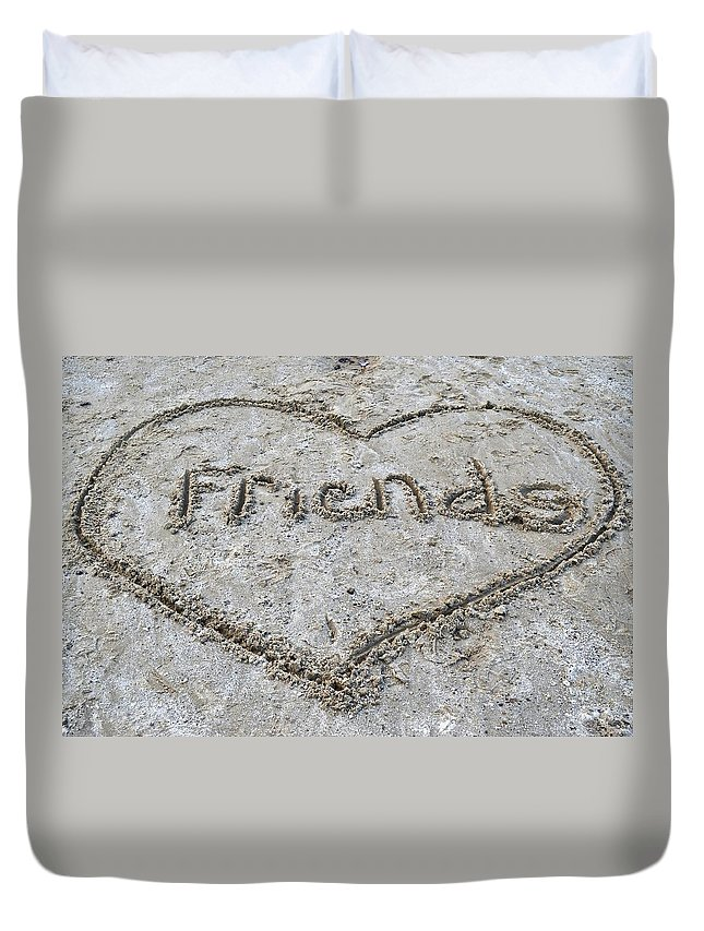 Friends Duvet Cover featuring the photograph Friends by Frozen in Time Fine Art Photography