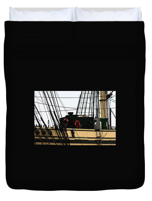 Friendship Of Salem Rigging Duvet Cover featuring the photograph Friendship Of Salem Rigging by Denyse Duhaime