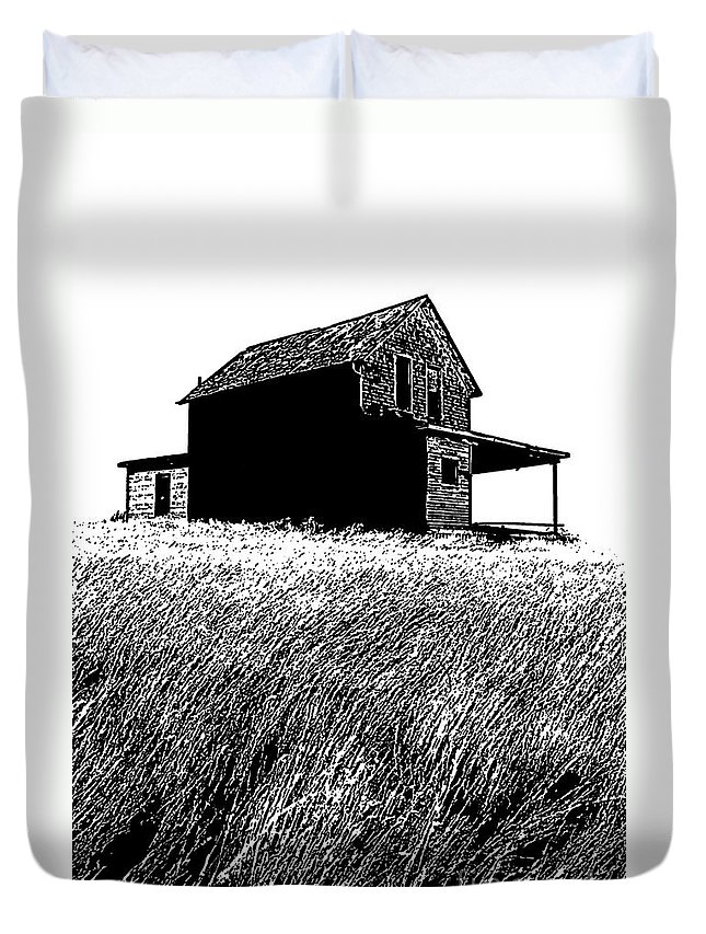 Prairie Architecture Duvet Cover featuring the photograph From Days Gone By by Vivian Christopher