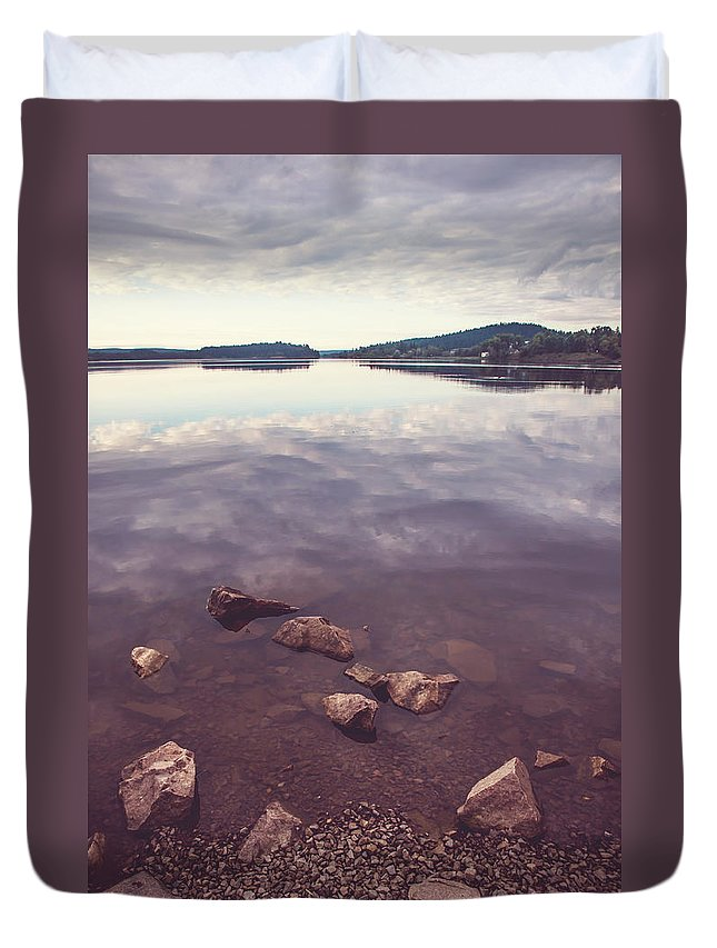 Nature Duvet Cover featuring the photograph From The Depth Of Silence. Ladoga Lake by Jenny Rainbow