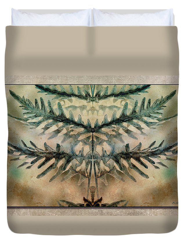 Fern Duvet Cover featuring the photograph Frond Embrace by WB Johnston