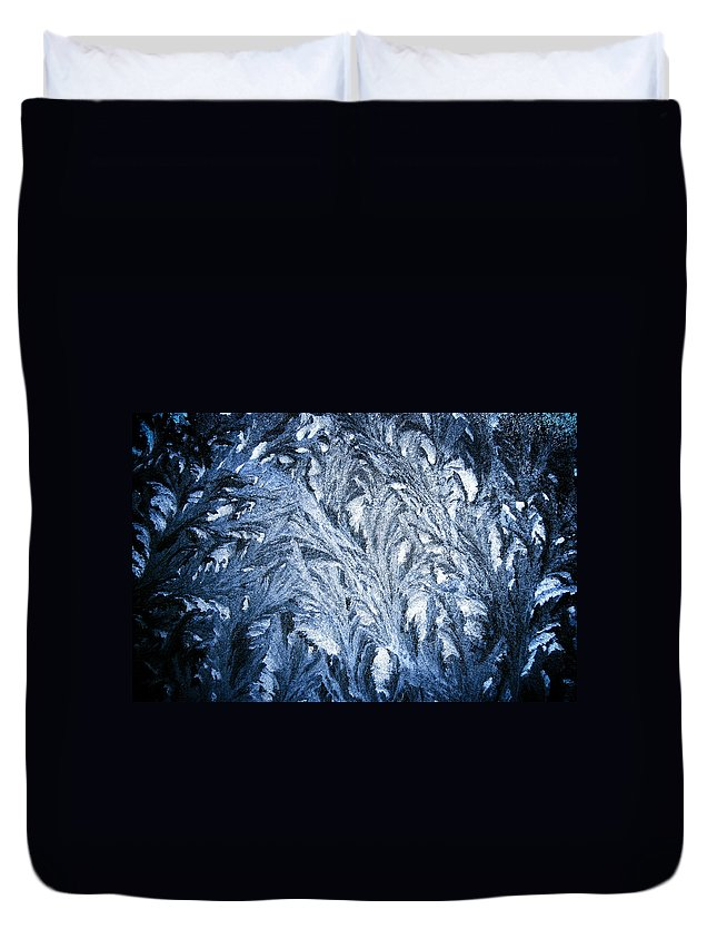 Frost Duvet Cover featuring the photograph Frost On My Window by Geoff Campbell