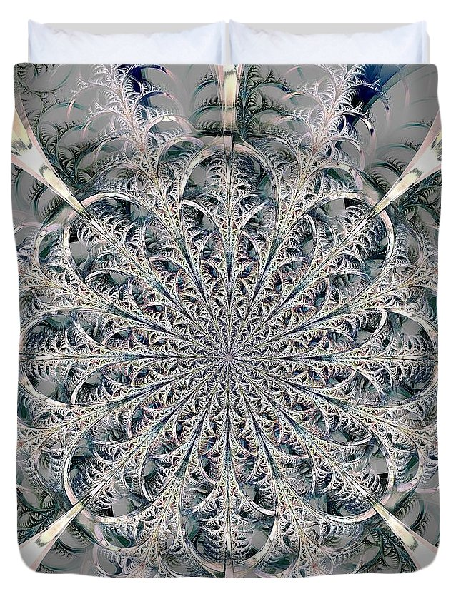 Computer Duvet Cover featuring the digital art Frost Seal by Anastasiya Malakhova