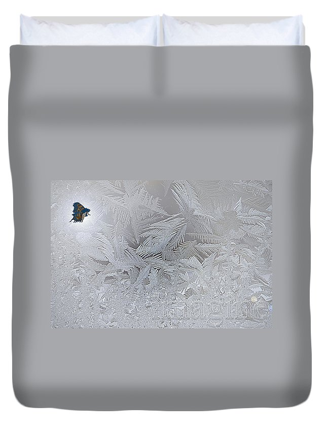 Imagine Duvet Cover featuring the digital art Frosty Dreams by Lisa Knechtel