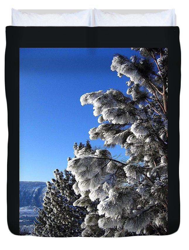 Frost Duvet Cover featuring the photograph Frosty Limbs by Will Borden