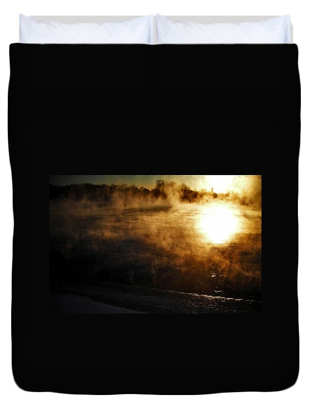 North America Duvet Cover featuring the photograph Frosty Morning ... by Juergen Weiss