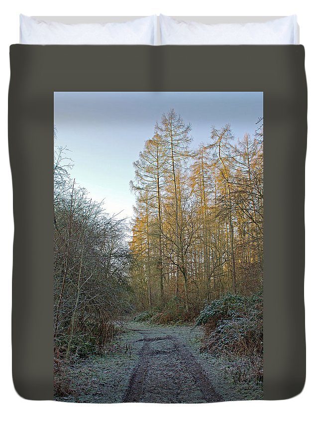 Frosty Morning Duvet Cover featuring the photograph Frosty Morning by Tony Murtagh