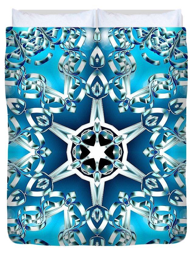 Sacredlife Mandalas Duvet Cover featuring the digital art Frozen Divinity by Derek Gedney