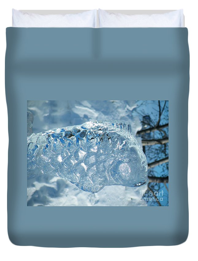 Frozen Duvet Cover featuring the photograph Frozen Fish Of The Northern Forests by Brian Boyle