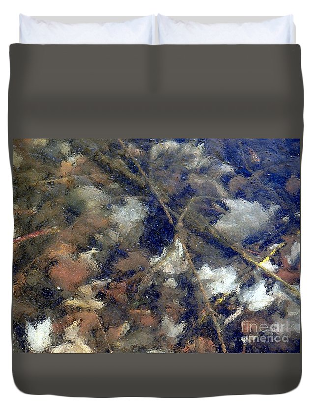 Leaves Duvet Cover featuring the photograph Frozen In Time by Ed Weidman