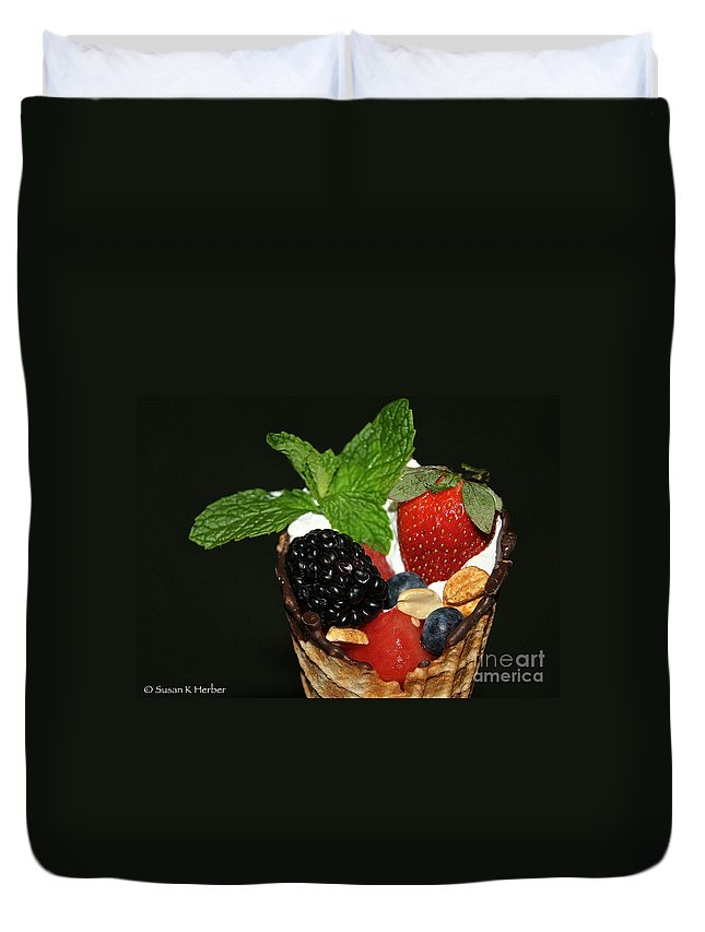 Fruit Duvet Cover featuring the photograph Fruit Cone by Susan Herber