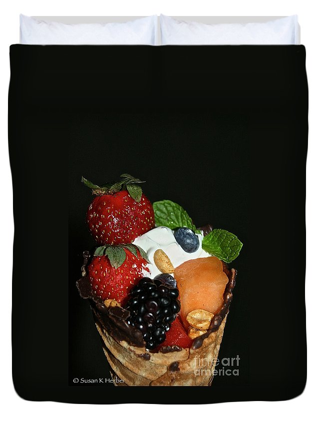 Fruit Duvet Cover featuring the photograph Fruit Flavor by Susan Herber