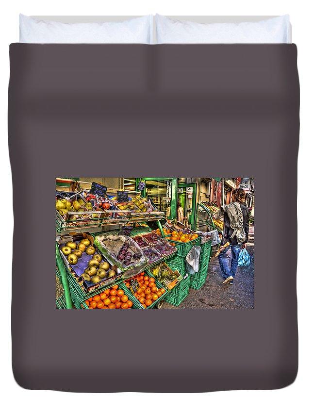 Fruit Market Duvet Cover featuring the photograph Fruit Market by Jon Berghoff