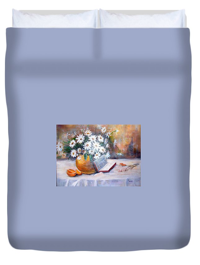 Bible Duvet Cover featuring the painting Fruit Of The Spirit by Judie White