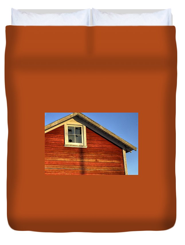 Ft Duvet Cover featuring the photograph Ft Collins Barn Sunset 2 13508 by Jerry Sodorff