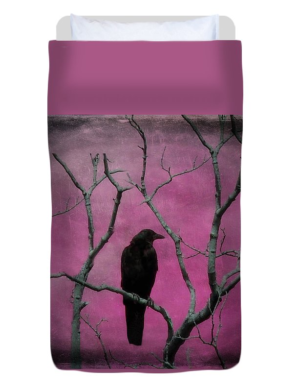Bird Duvet Cover featuring the digital art Fuchsia by Gothicrow Images