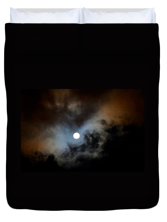 Night Duvet Cover featuring the photograph Full Moon Night by Jenny Rainbow