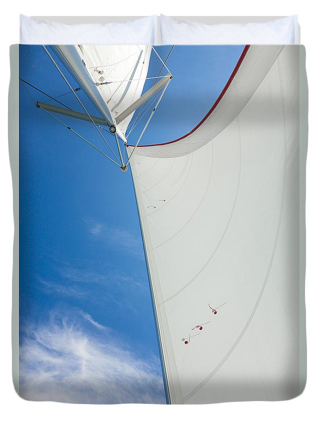 Sail Duvet Cover featuring the photograph Full Sails by Alexey Stiop