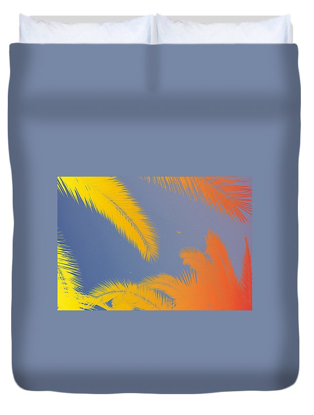 Funky Duvet Cover featuring the digital art Funky Summer by Cristina-Velina Ion