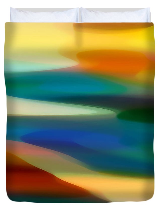 Bold Duvet Cover featuring the painting Fury Seascape 3 by Amy Vangsgard