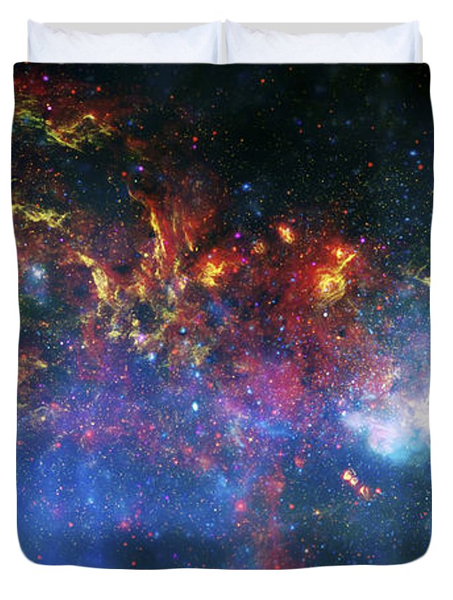 Universe Duvet Cover featuring the photograph Galactic Storm by Jennifer Rondinelli Reilly - Fine Art Photography