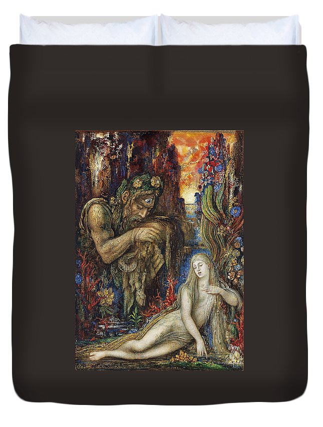 Gustave Moreau Duvet Cover featuring the painting Galathea by Gustave Moreau