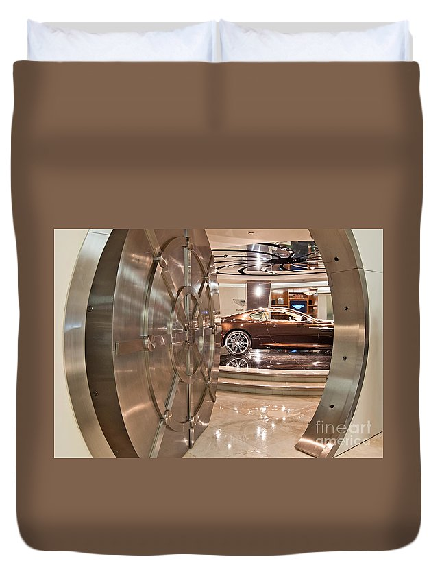 Galpin Duvet Cover featuring the photograph The Vault - Aston Martin by Jamie Pham