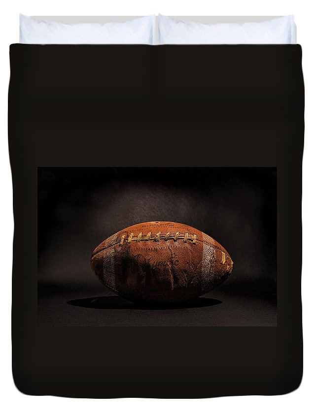Antique Duvet Cover featuring the photograph Game Ball by Peter Tellone