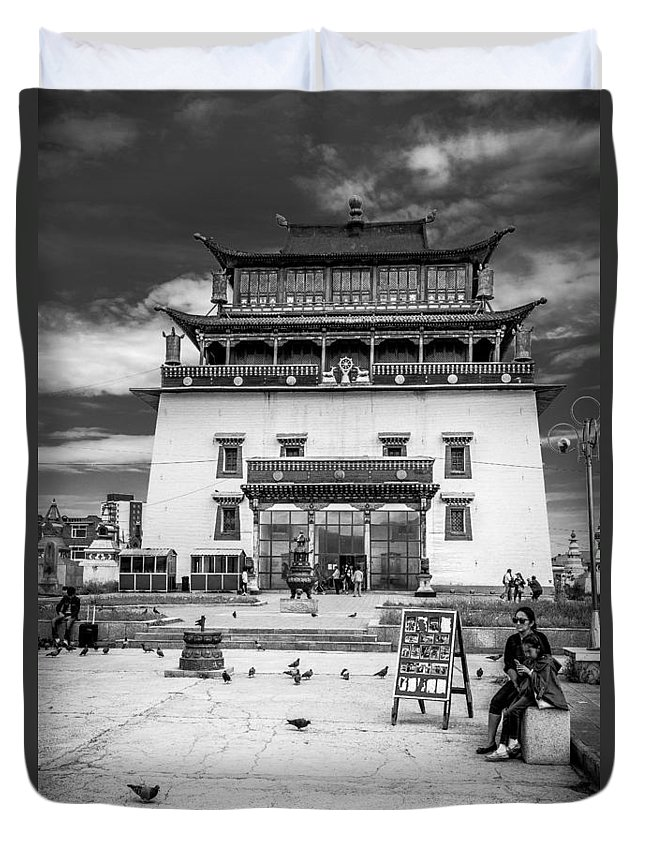 Gandantegchenling Duvet Cover featuring the photograph Gandantegchenling Monastery by Andrew Matwijec