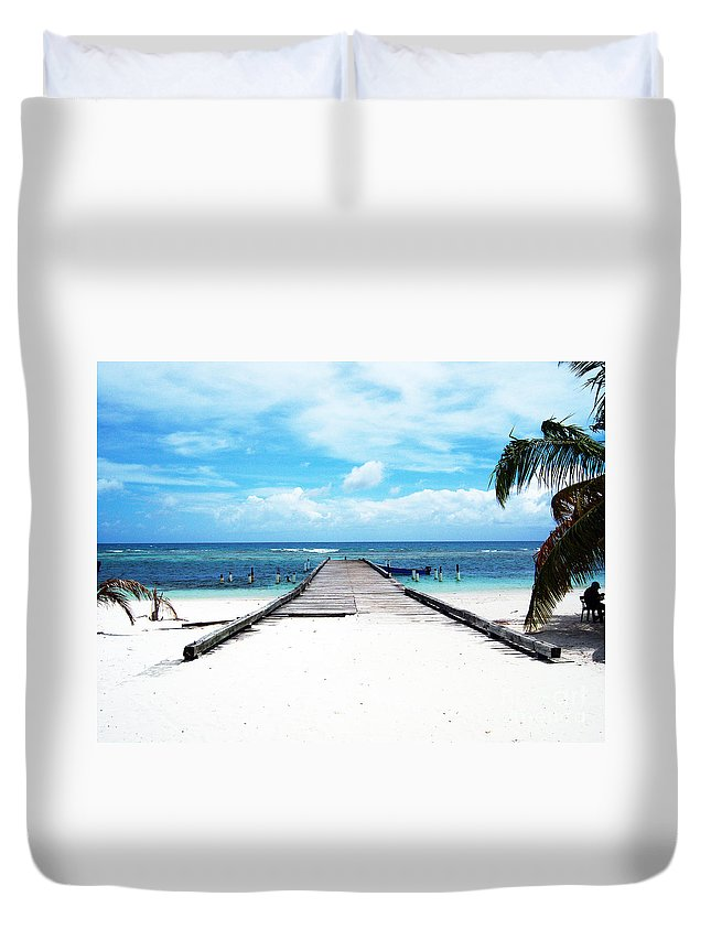 Palm Duvet Cover featuring the photograph Gangplank Of Perfection by Heather Kirk