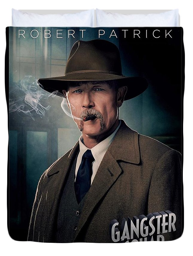 Gangster Squad Duvet Cover featuring the photograph Gangster Squad Patrick by Movie Poster Prints