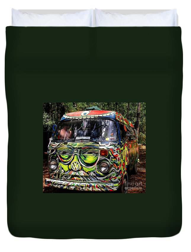 Vw Duvet Cover featuring the photograph Garcia Vw Bus by Angela Murray
