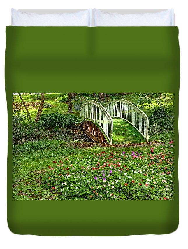 Garden Duvet Cover featuring the photograph Garden by Alexey Stiop