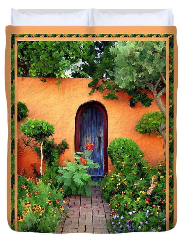 Garden Duvet Cover featuring the photograph Garden Delights Mesilla by Kurt Van Wagner