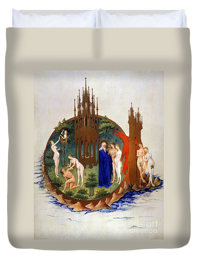 15th Century Duvet Cover featuring the photograph Garden Of Eden: Adam & Eve by Granger