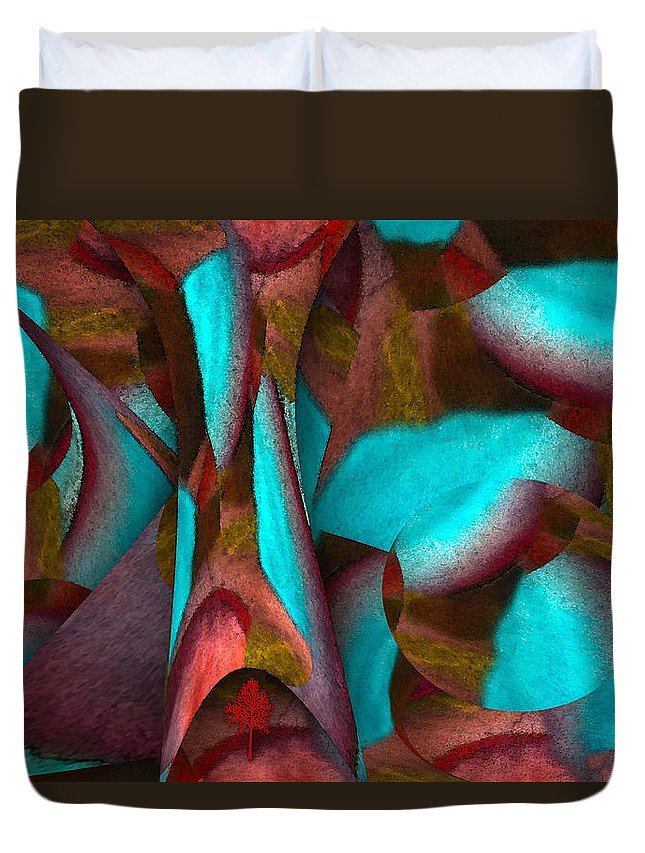 Garden Of Trees Duvet Cover featuring the painting Garden Of Trees by Jennifer Page