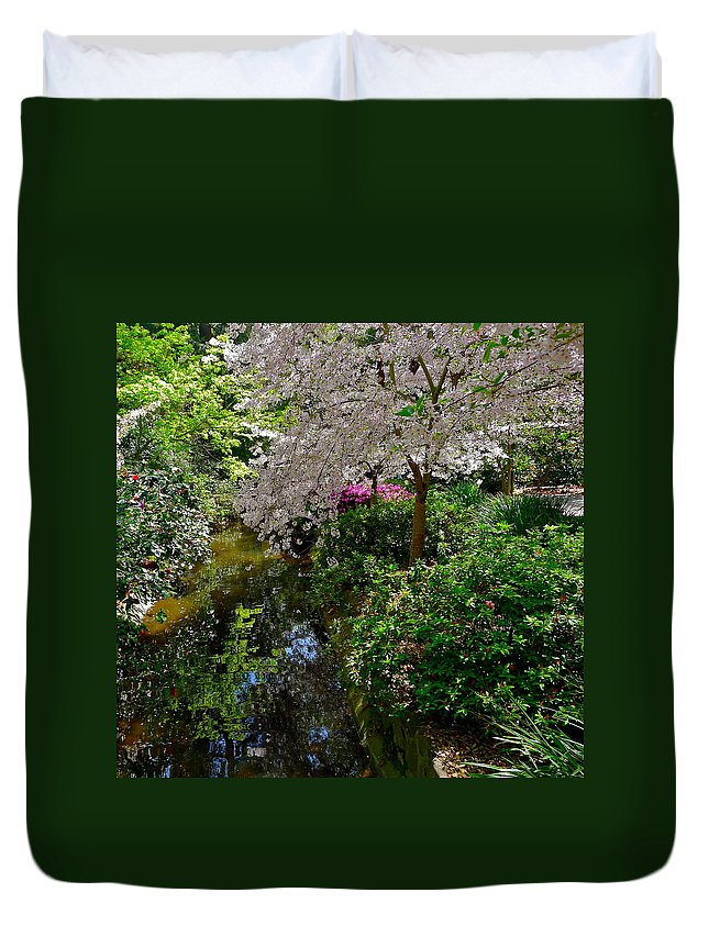 Garden Duvet Cover featuring the photograph Garden Sanctuary by Denise Mazzocco