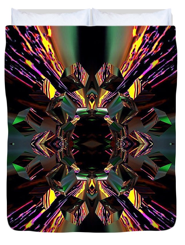 Angel Duvet Cover featuring the digital art Garnet by Raymel Garcia