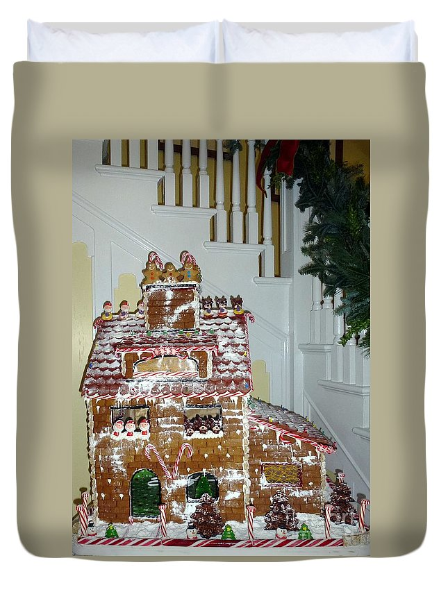 Gingerbread Duvet Cover featuring the photograph Gasparilla Gingerbread by Barbie Corbett-Newmin