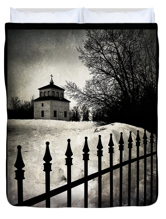 Church Duvet Cover featuring the photograph Gates Of Grace by The Artist Project