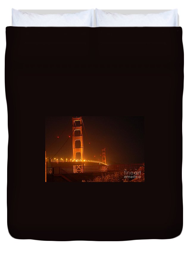 Bridge Duvet Cover featuring the photograph Gateway by Shauna Fackler
