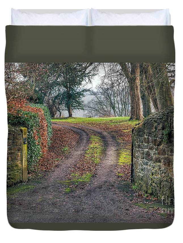 Architecture Duvet Cover featuring the photograph Gateway To Autumn by Adrian Evans