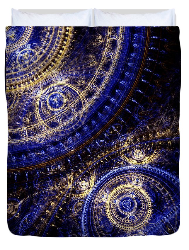 Doctor Who Duvet Cover featuring the digital art Gears Of Time by Martin Capek