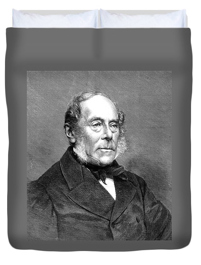 1870 Duvet Cover featuring the painting George Villers (1800-1870) by Granger