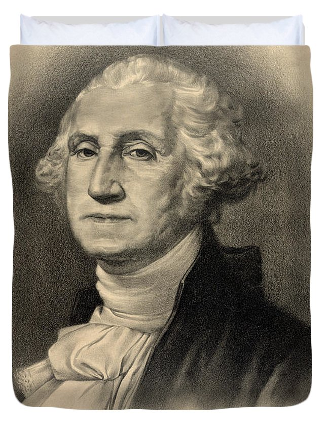 George Duvet Cover featuring the photograph George Washington by Bill Cannon