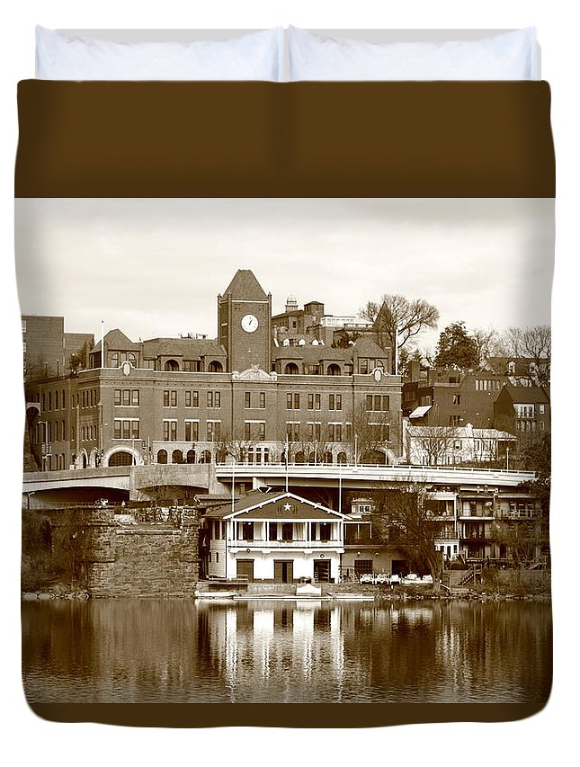 Great Duvet Cover featuring the photograph Georgetown by Scott Fracasso