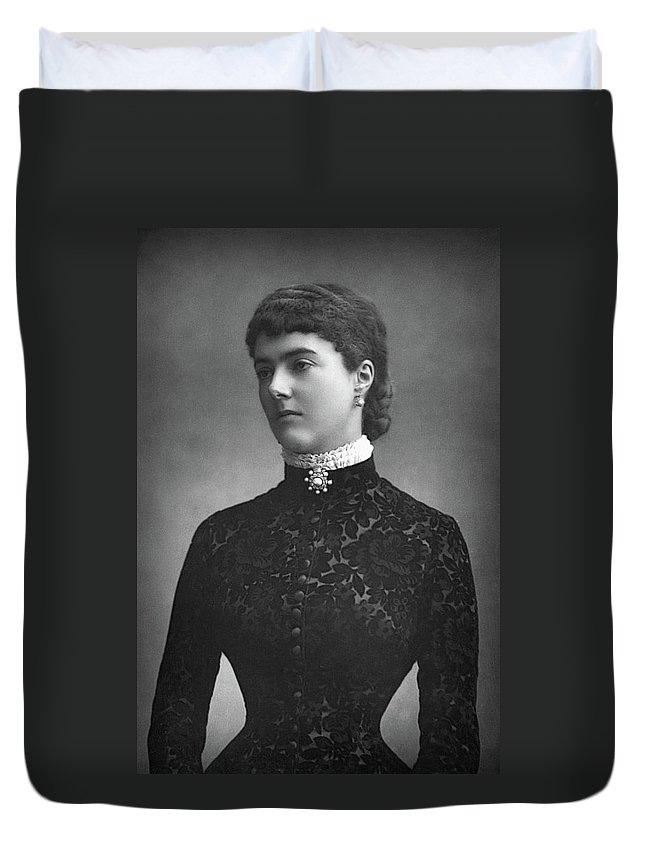 1890 Duvet Cover featuring the photograph Georgina Ward (1846-1929) by Granger