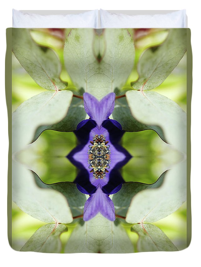 Tranquility Duvet Cover featuring the photograph Gerbera Flower by Silvia Otte