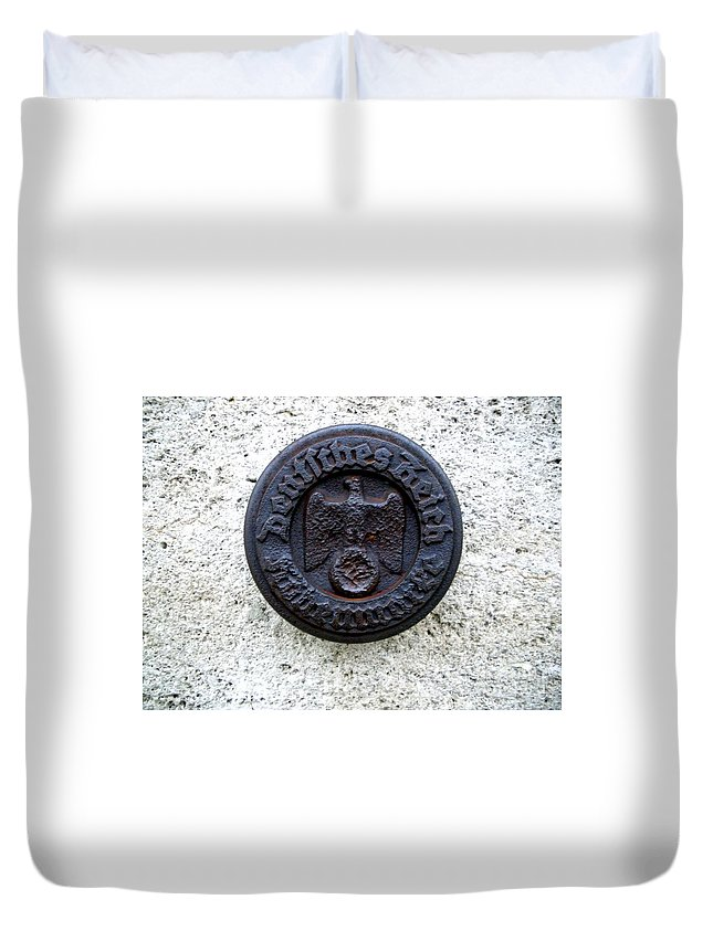 German Duvet Cover featuring the photograph German Reich Seal by Henrik Lehnerer